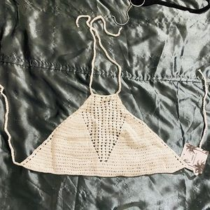Sabo Skirt Crochet Crop Top S